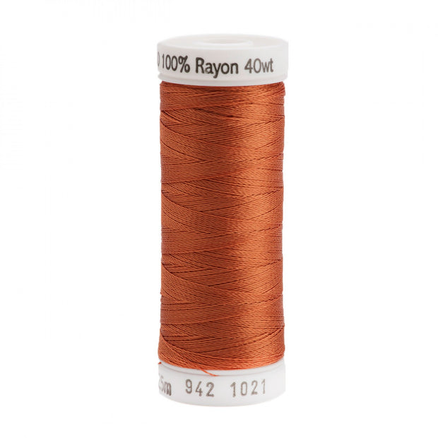225m 40wt Rayon Embroidery Thread 1021 Maple