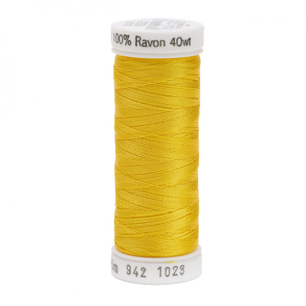 225m 40wt Rayon Embroidery Thread 1023 Yellow