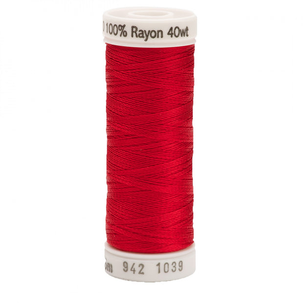 225m 40wt Rayon Embroidery Thread 1039 True Red