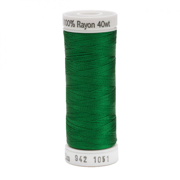 225m 40wt Rayon Embroidery Thread 1051 Christmas Green