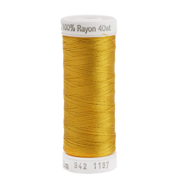225m 40wt Rayon Embroidery Thread 1137 Yellow-Orange