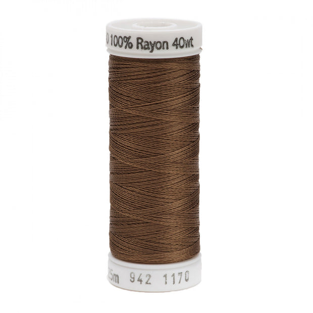 225m 40wt Rayon Embroidery Thread 1170 Lt Brown