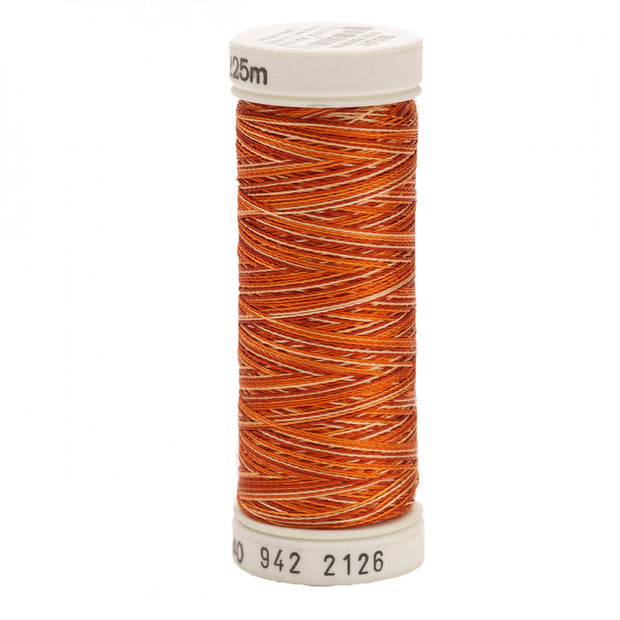 225m 40wt Rayon Embroidery Thread 2126 Rust Peaches