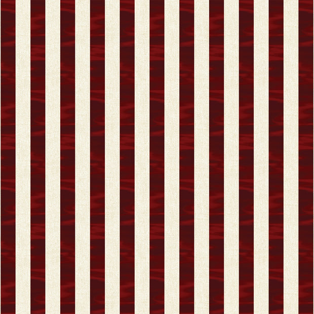 Oh My Stars Red & White Channel Stripe