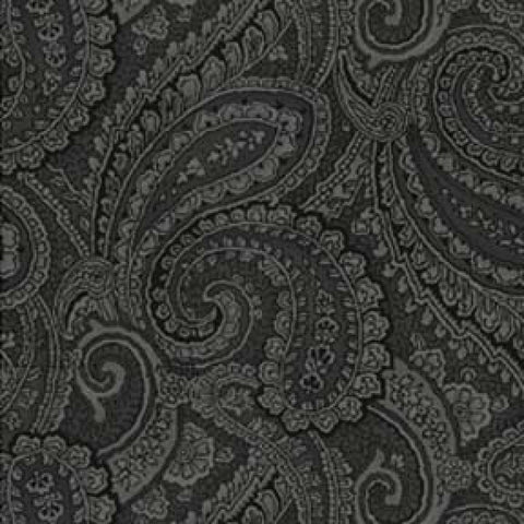 108 Inch Wide Backing Black Paisley