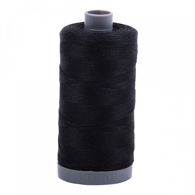 28wt Mako Cotton Embroidery Thread 2692 Black