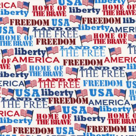 Americana Freedom Words