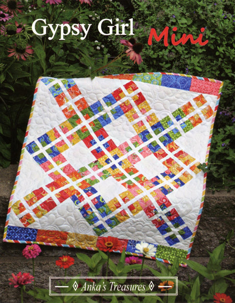 Anka's Treasures Gypsy Girl Mini Quilt Pattern by Heather Peterson