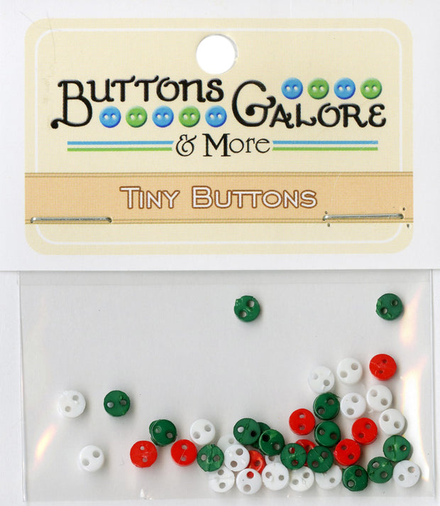 4mm Round Micro Buttons Christmas Multi