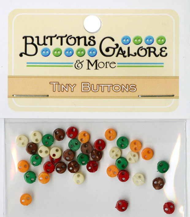 Buttons Galore 4mm Micro Buttons 40 count Harvest Colours