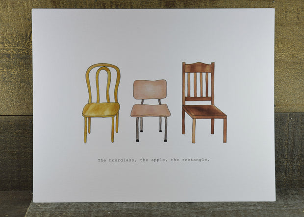 Chair Illustrated Art Print by Boots Paper