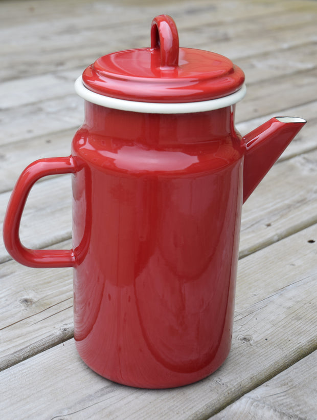 Dexam Red Enamelware Coffee Pot
