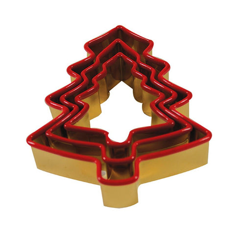 Cookie Cutter Antique Gold Red Christmas Tree