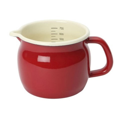 Dexam Enamelware Red Claret Measuring Jug 700ml 23.5oz