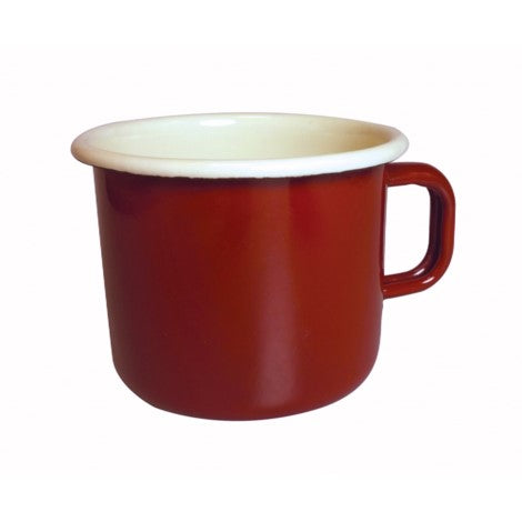 Dexam Enamelware Red Claret Coffee Tea Mug 450ml 15oz