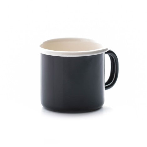 Dexam Enamelware Black Espresso Coffee Tea Mug 150ml 5oz