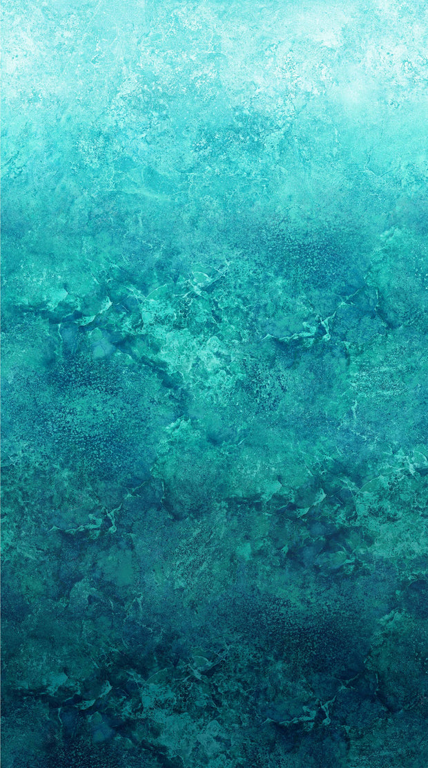 Northcott Stonehenge Gradations Ombré Lagoon Teal Quilt Fabric