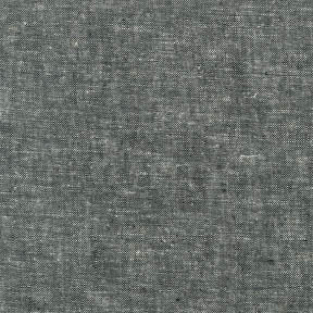 Robert Kaufman Essex Yarn Dyed Linen Cotton Blend Black Fabric for Quilting and Sewing