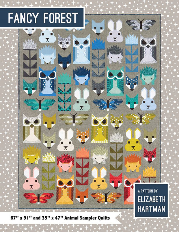Elizabeth Hartman Fancy Forest Sampler Quilt Pattern
