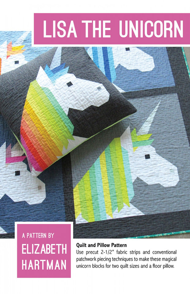 Elizabeth Hartman Quilt Pattern Lisa the Unicorn