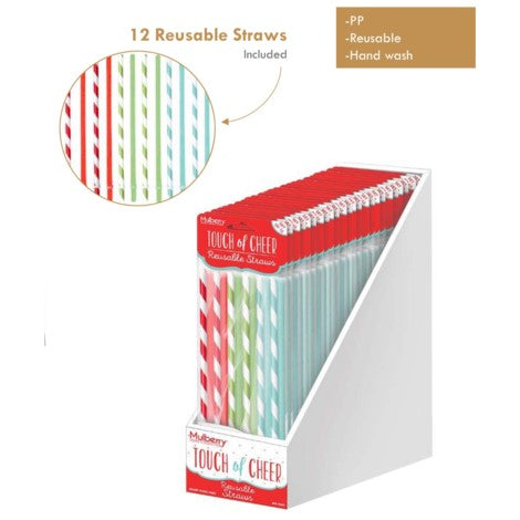 Touch of Cheer Reusable Straws Reuse Recycle