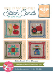 Bee In My Bonnet Stitch Cards Set B