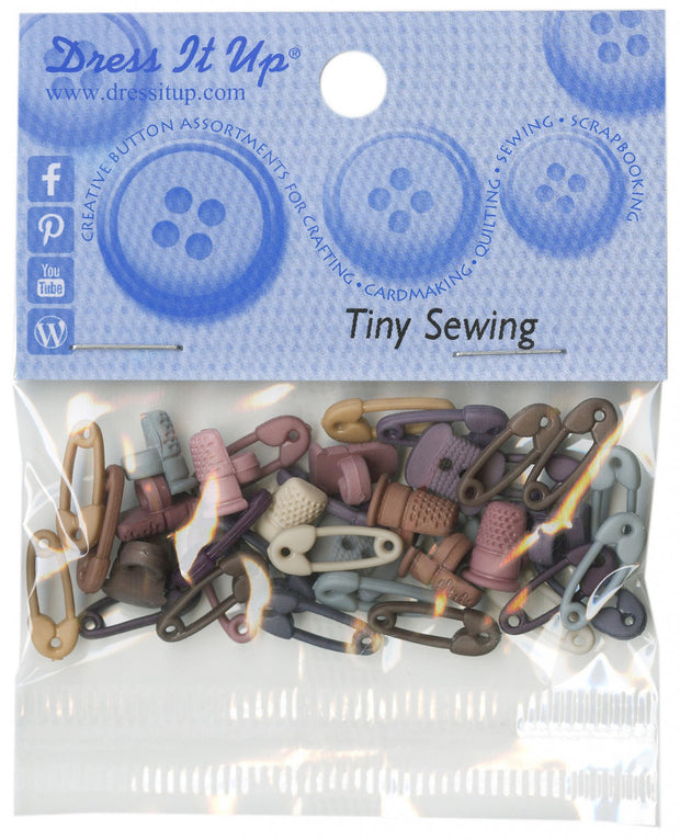 Dress It Up Craft Buttons Safety Pins Thimble Assortment