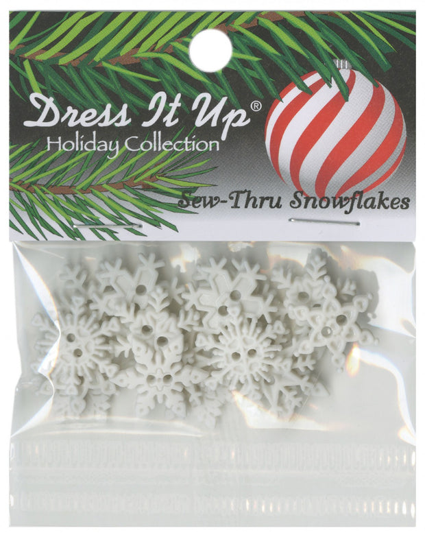 Dress It Up Assorted Snowflake Craft Buttons