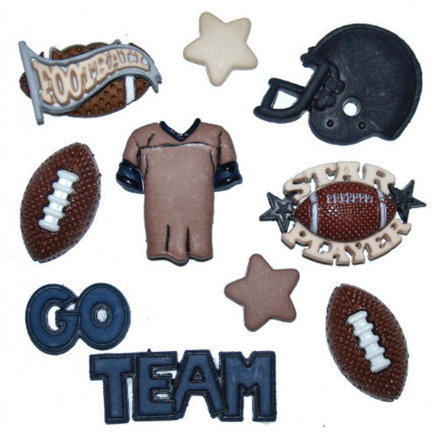 Football Buttons 8ct