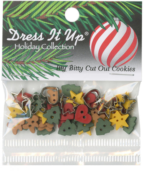 Itty Bitty Cut-Out Cookie Buttons