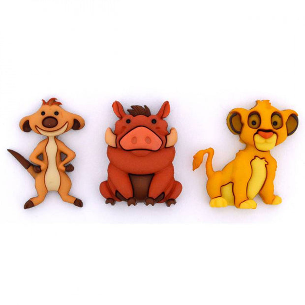 Disney's Lion King Simba Timon and Pumba Buttons
