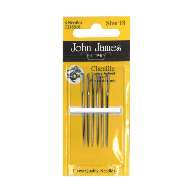Chenille Embroidery Needles 6ct