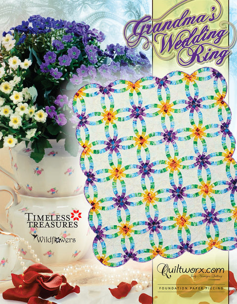 Grandma's Double Wedding Ring Quilt Pattern by Judy Niemeyer