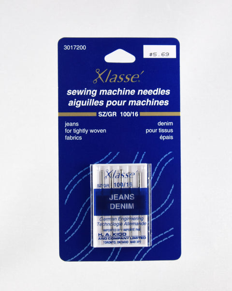 Package of 5 Jean Needles 100/16