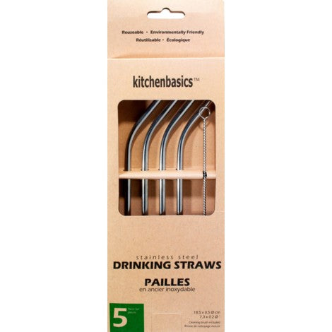 Stainless Steel Straws Kitchen Basics Reusable Environmentally Friendly