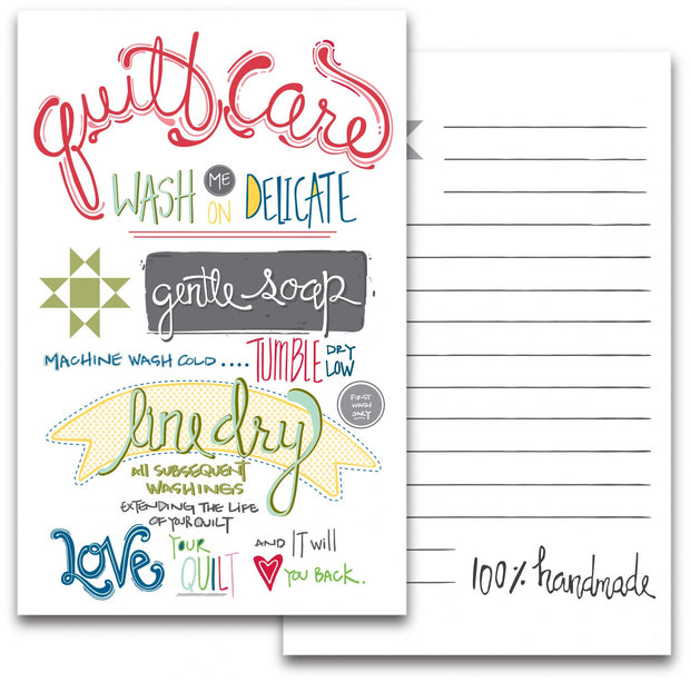 Quilt Care Note Card 2pk