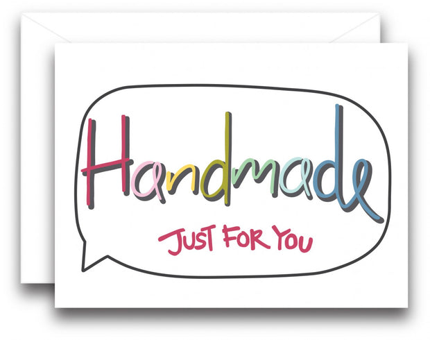 Handmade Just For You Note Card 3pk