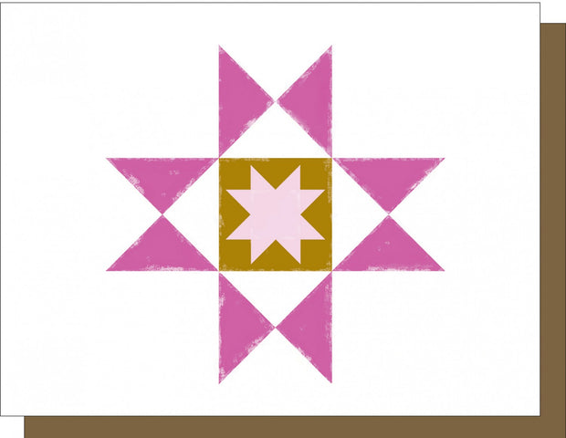 Barn Quilt Ohio Star Note Card