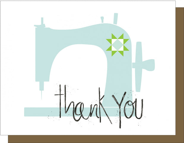 Sewing Machine Thank You Note Card