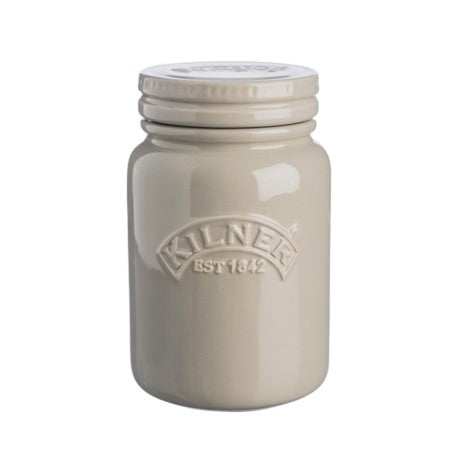 Kilner Ceramic Storage Jar 600ml Pebble Grey