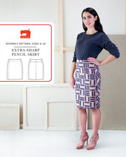 Extra Sharp Pencil Skirt Sewing Pattern