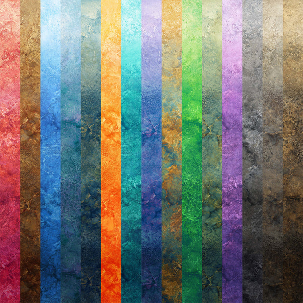 Stonehenge Ombré by Linda Ludovico for Northcott Digital Prints Quilt Fabric Red Brown Blue Navy Orange Green Purple Black Grey