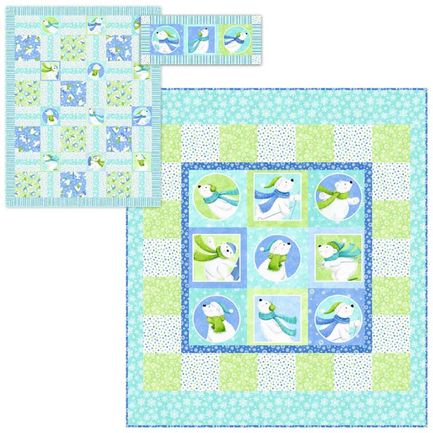 Snow Bears Bear Tracks Quilt Pattern By Northcott