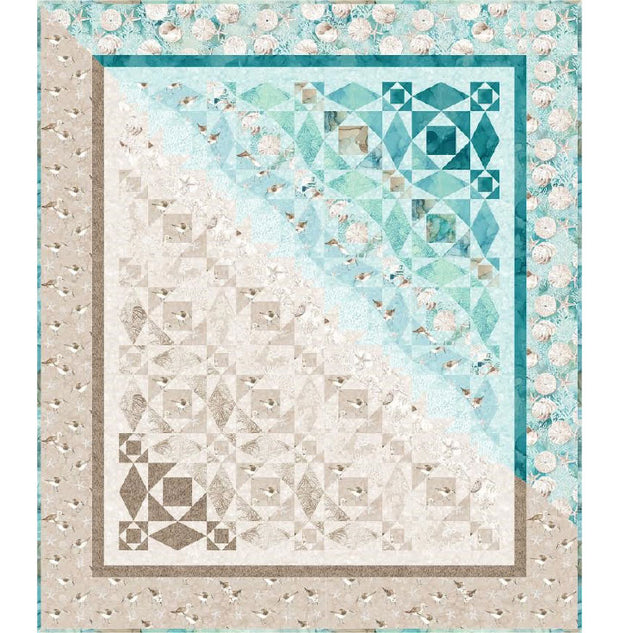 White Sands Quilt Pattern Northcott Karen Bialik Sea Coastal Beach High Tide