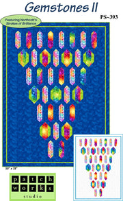 Gemstones Quilt Pattern featuring Northcott's Strokes Of Brilliance Fabric
