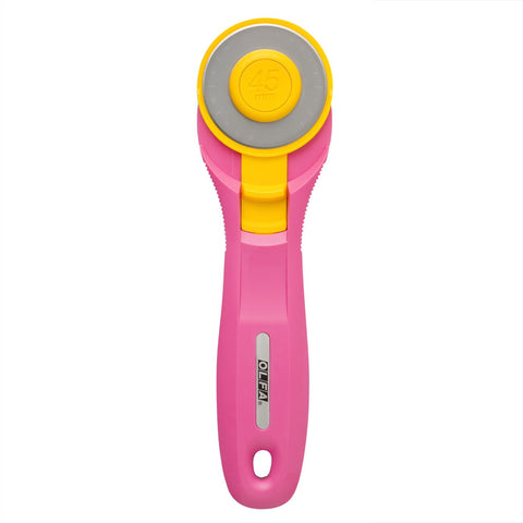 OLFA Splash 45mm Rotary Cutter in Fairy Floss Pink