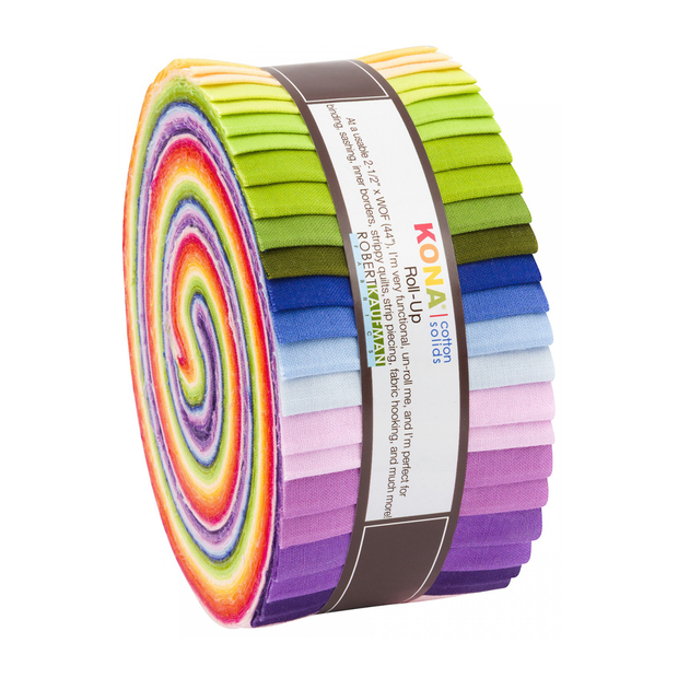 2.5in Strips Roll-Up KONA Solids Multi Pack 40pc