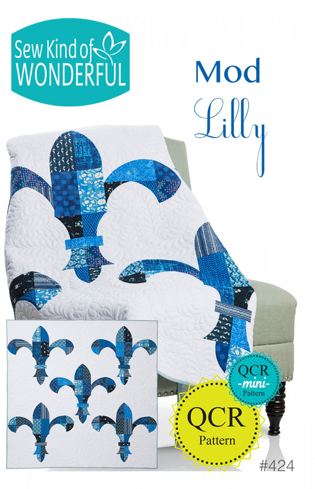 Sew Kind Of Wonderful Mod Lilly Fleur De Lis Quilt Pattern