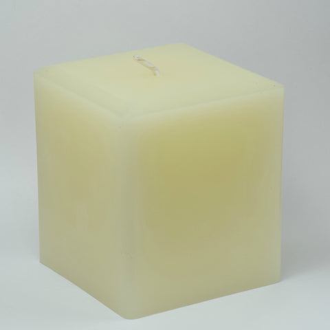 3 Inch Pearl White Square Beeswax Candle