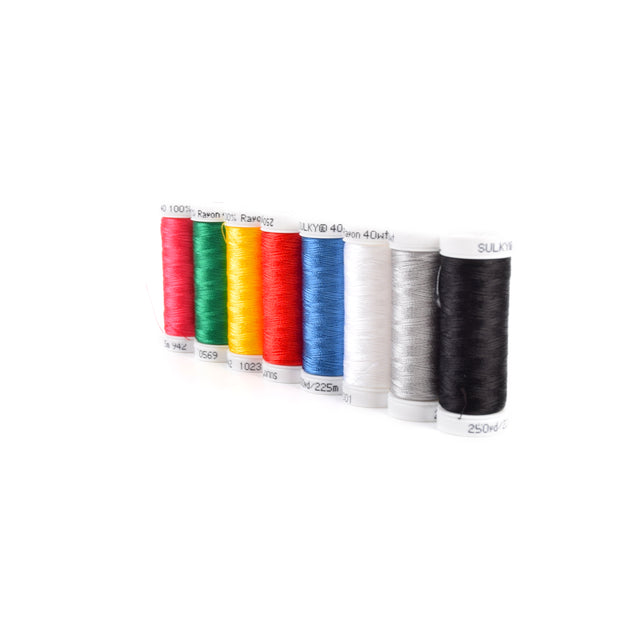40wt Rayon Embroidery Thread Starter Set